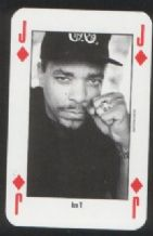 Ice T pop music  playing card #140